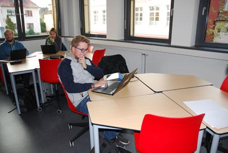 Unterrichtssituation im digitalen Klassenzimmer